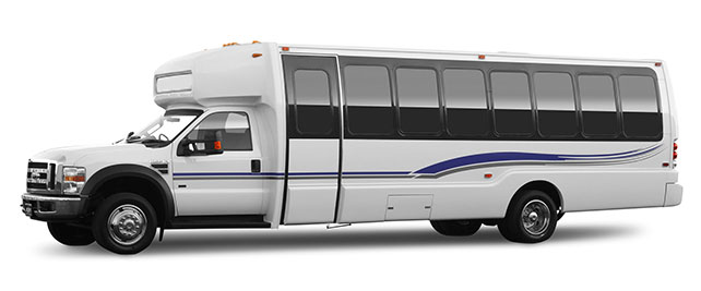 Luxury White Limousine Bus